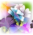 colorful floral glowing spring summer vector image vector image