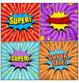 comic pages colorful set vector image vector image