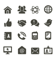 Communication icon set 2 vector image