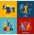 Competition flat icons set vector image
