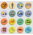 Construction Flat Icons Set vector image vector image
