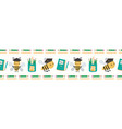 cute going back to school border with bees books