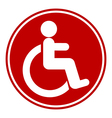 Disabled sign button vector image vector image
