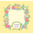 Easter wreath yellow vector image