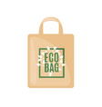 eco bag icon in flat style isolated on white vector image vector image