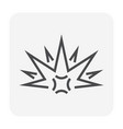 explode icon black vector image vector image