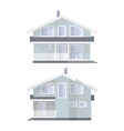 family house in 2 views vector image
