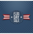 Flag Day Sale patriotic Banner with Text vector image vector image