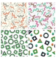 flat simple geometric shapes in seamless pattern vector image
