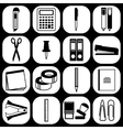 Flat stationery icons vector image