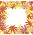 frame marijuana leaves vector image vector image