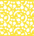 fruit shapes seamless pattern yellow vector image vector image