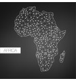 geometric africa madagascar continent dark vector image vector image