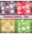 Gifts Seamless pattern set Abstract background vector image