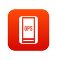 global positioning system icon digital red vector image vector image