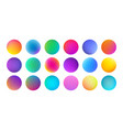 gradient color circles with watercolor vector image vector image
