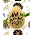 Happy Easter Sign symbol logo on background vector image vector image