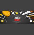 happy labor day sale construction tools design vector image vector image
