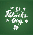 happy st patricks day vintage greeting card hand vector image vector image