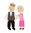 isolated grandparents couple vector image vector image