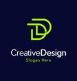 letter dd creative business logo design vector image vector image