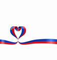 liechtenstein flag heart-shaped ribbon vector image vector image