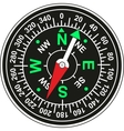 Magnetic compass vector image