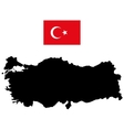 Map of Turkey and the official flag vector image vector image