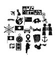 mapping icons set simple style vector image