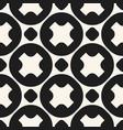 monochrome geometric seamless circles pattern vector image vector image