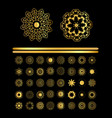 ornamental golden round lace background vector image vector image
