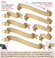 papyrus ribbons diagonal top left towards bottom vector image vector image