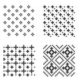pixel seamless pattern set vector image vector image