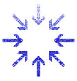 pressure arrows grunge textured icon vector image vector image