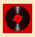 realistic vinyl record with cover mockup retro vector image vector image