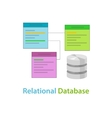 relational database data table related symbol vector image vector image