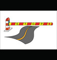 road barrier stop sign concept vector image