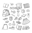 school elements clothes stationery various vector image