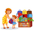 school shopping colorful poster vector image vector image