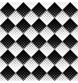 seamless black and white curved star pattern vector image vector image