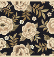 seamless floral pattern based on embroidered vector image vector image