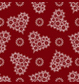 seamless pattern delicate sweet lace heart on a vector image vector image