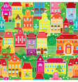 Seamless pattern with decorative colorful houses s vector image vector image