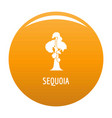 sequoia icon orange vector image vector image