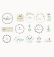 set labels and badges for food and drink vector image