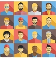 set men avatars icons colorful male faces vector image vector image
