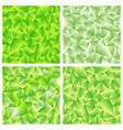 set of four green polygonal background vector image vector image