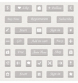 set of gray buttons and web elements vector image vector image