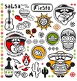 Set of Mexican symbols vector image