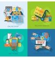 Shopping E-commerce Flat vector image vector image